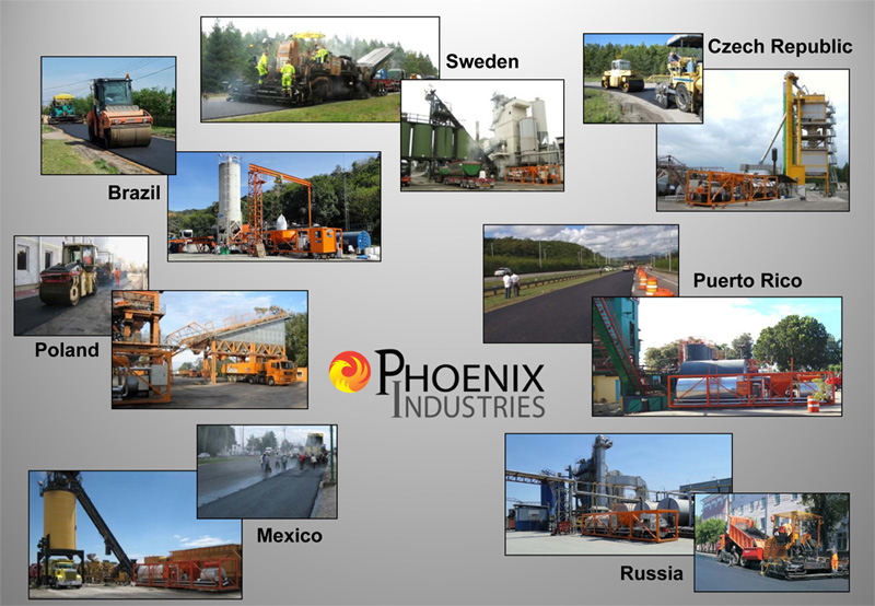 Phoenix Industries - Asphalt Rubber Projects
